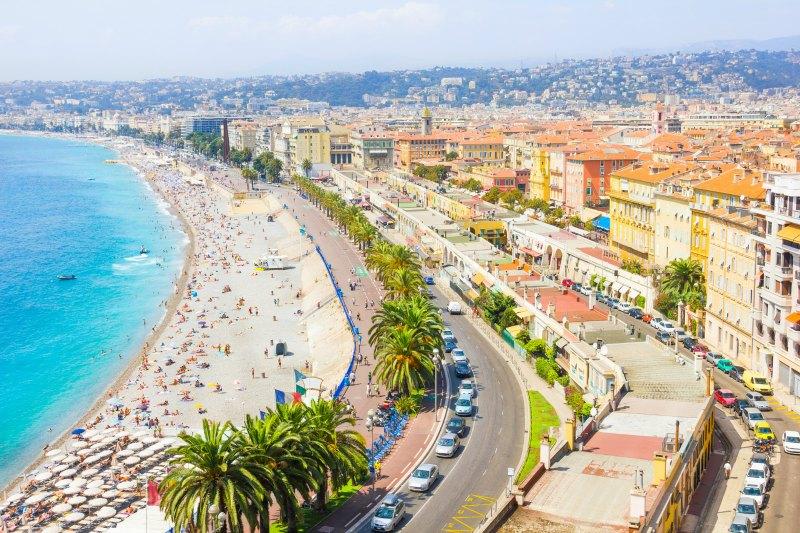 French Riviera yacht charter - Nice urban beach escape
