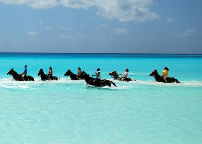 Caribbean yacht charter - horseback ride