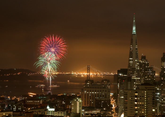 San Francisco yacht charter fireworks