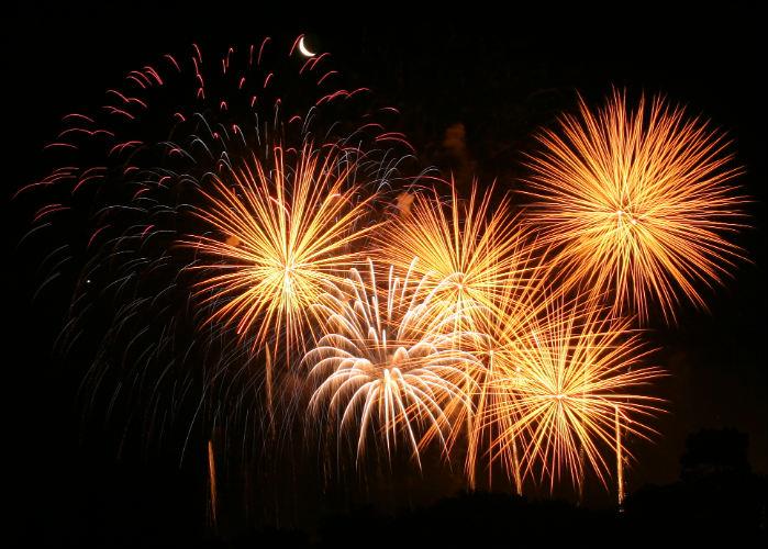 yacht charter fireworks