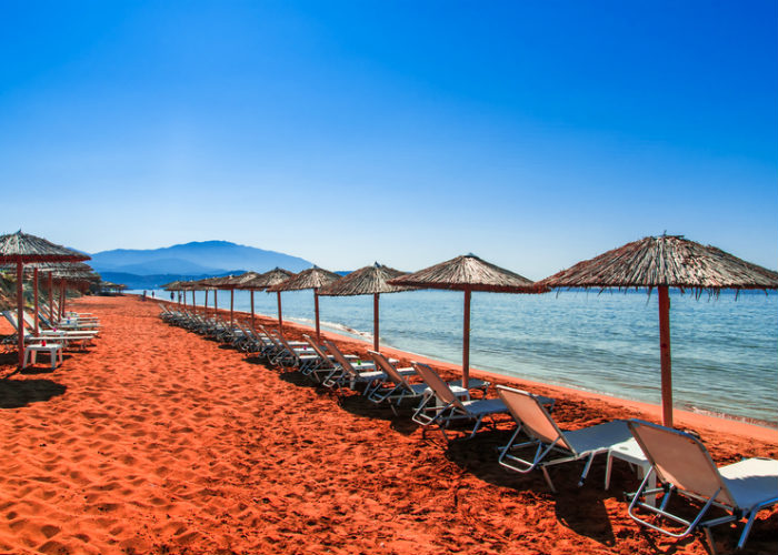 Greek Islands yacht charter - colored beaches